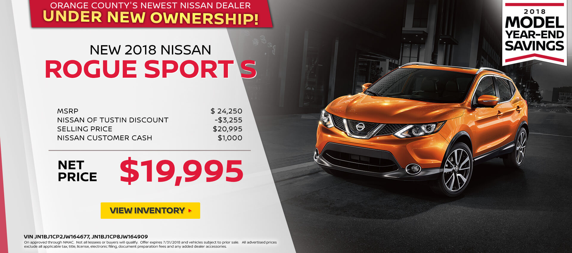 2018 Nissan Rogue Sport Purchase