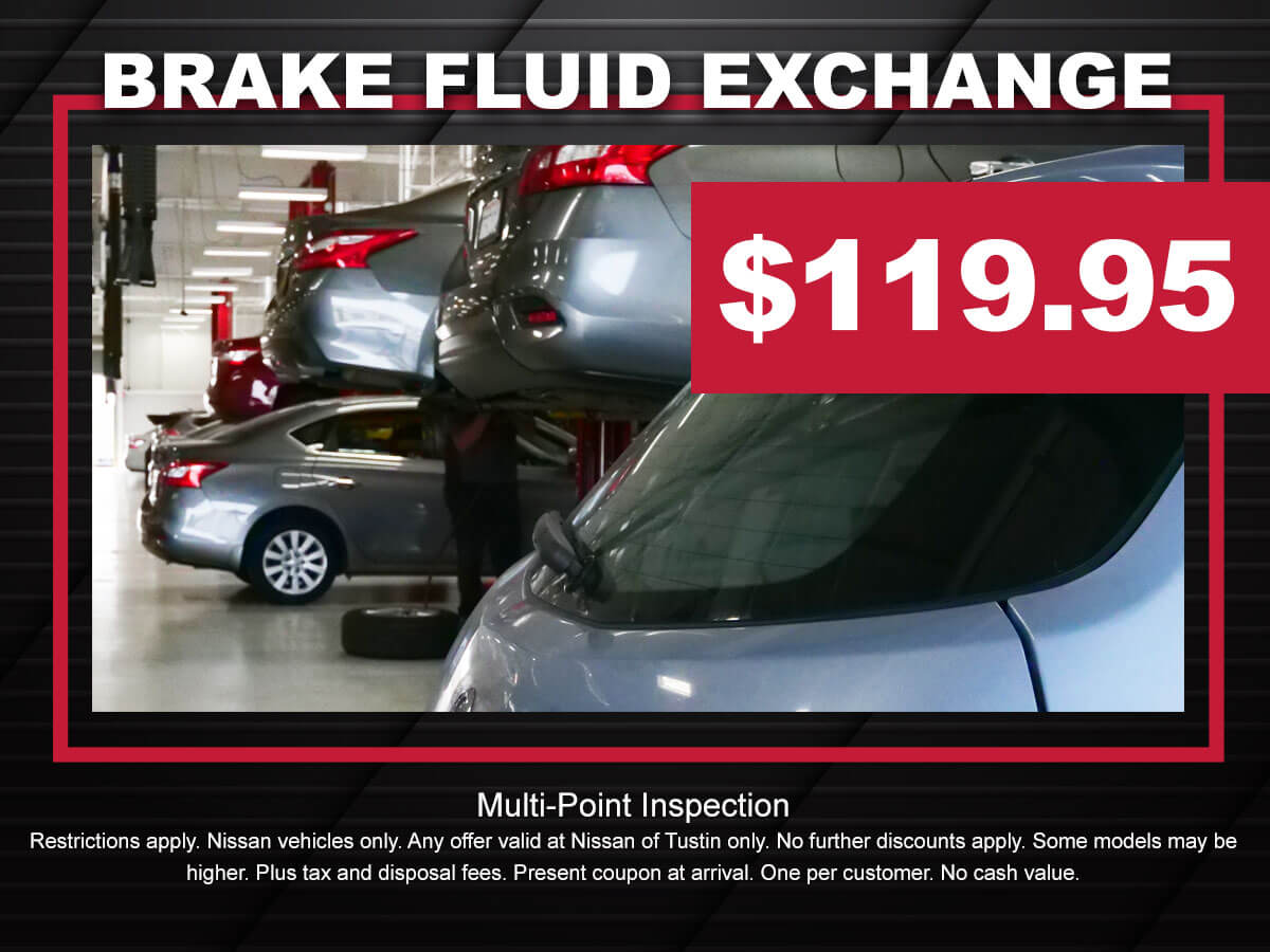 Nissan Brake Fluid Exchange Service Coupon Special