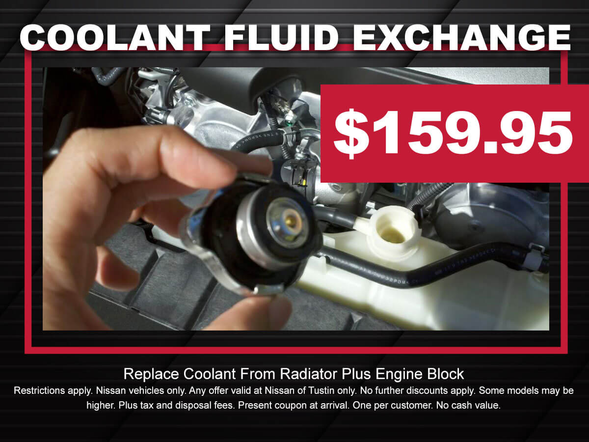 Nissan Coolant Fluid Exchange Service Coupon Special