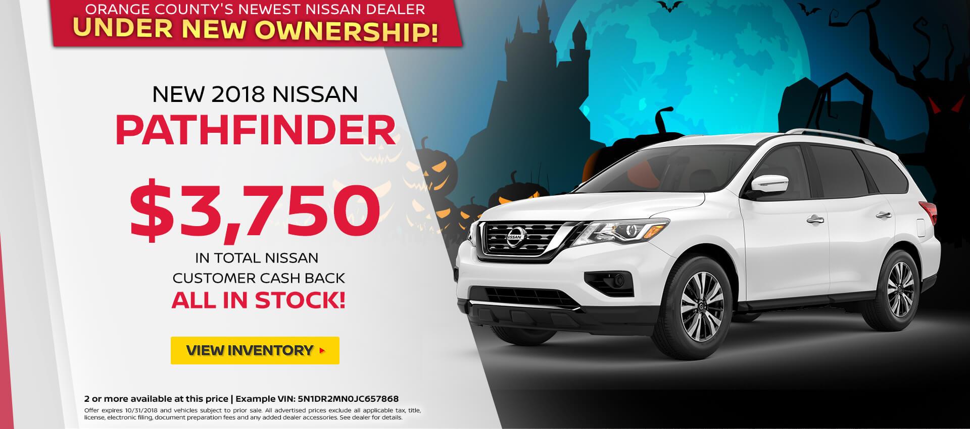2018 Nissan Pathfinder Special