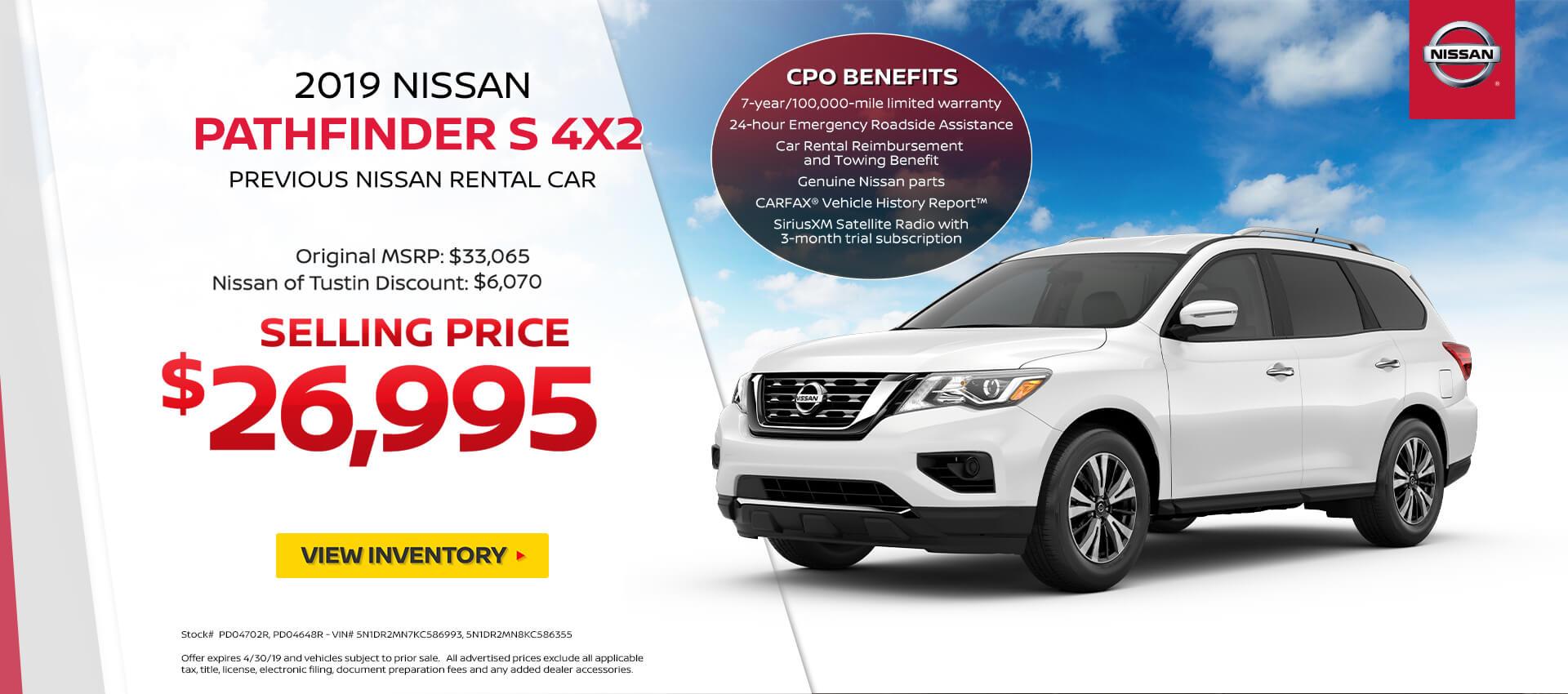 2019 Nissan Pathfinder Purchase