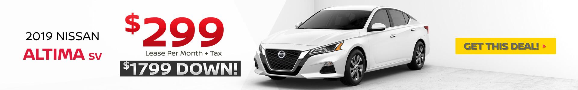 2019 Nissan Altima Lease $299