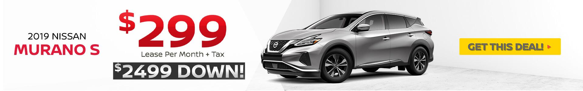 2019 Nissan Murano Lease $299