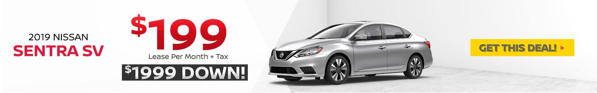 Nissan Sentra Lease $199