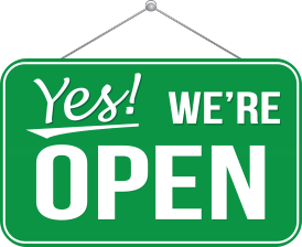 Yes! We're Open!