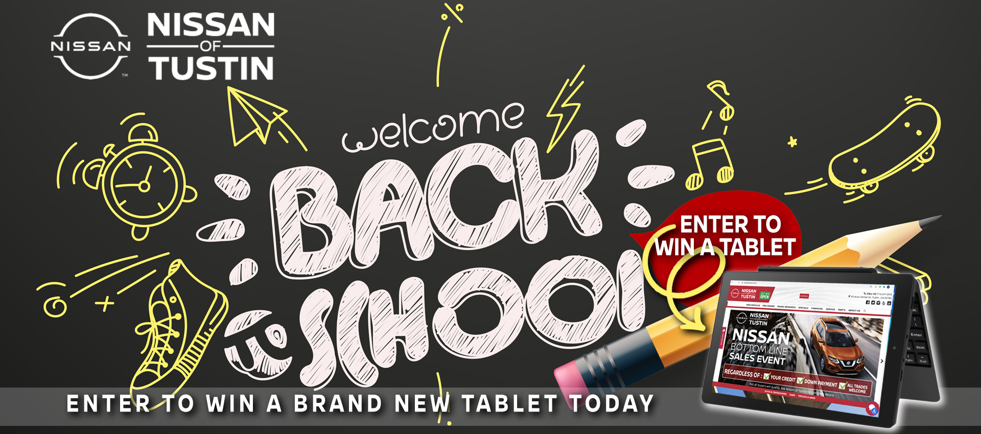 Welcome back to School - Enter to Win a Brand New Tablet Today