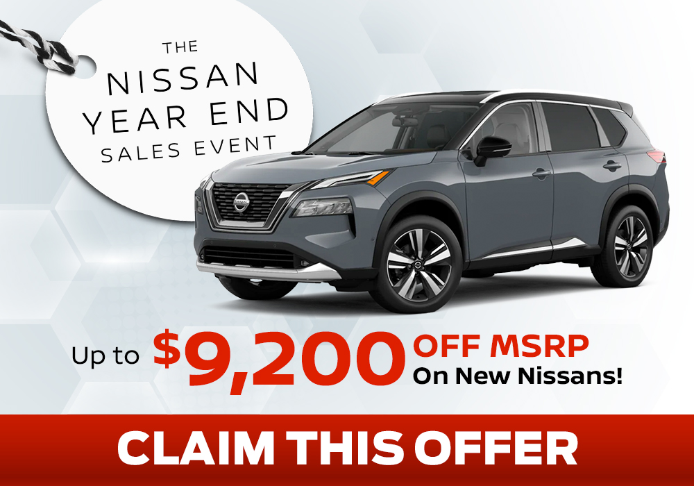 Receive up to $9,200 off MSRP on any new Nissan