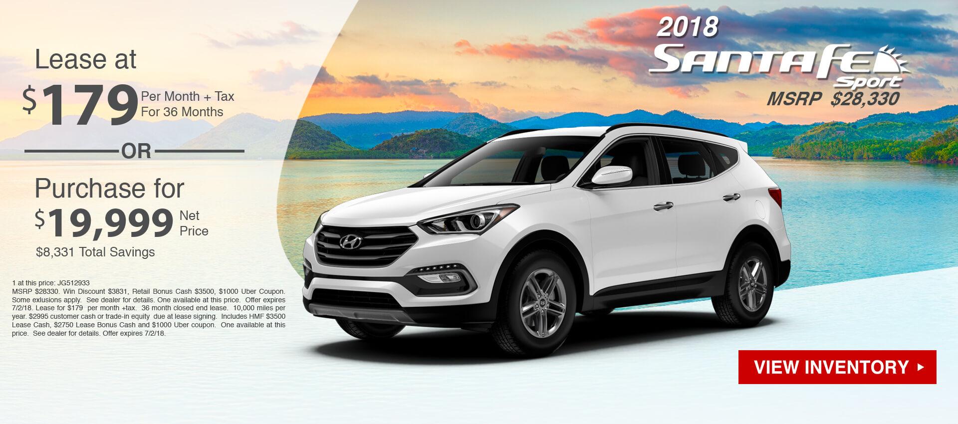 Hyundai Santa Fe Sport $179