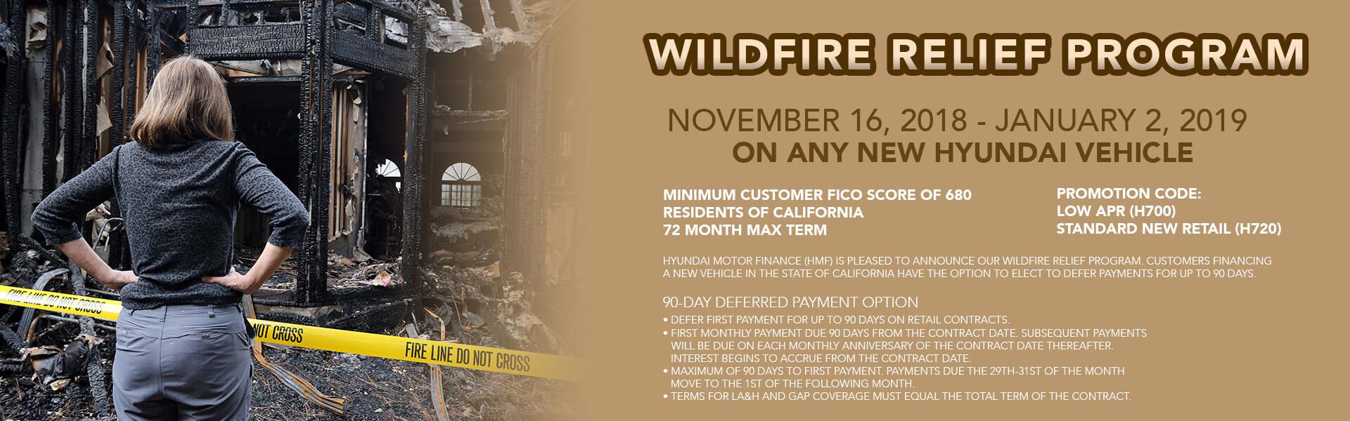 Wildfire Relief Program