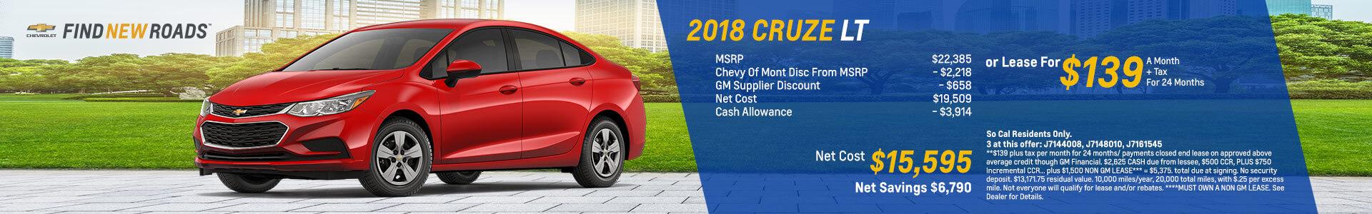 2018 Cruz LT