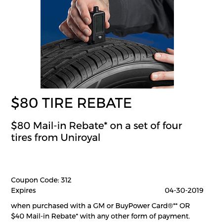 Tire $80 Rebate