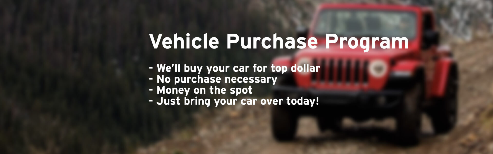 Vehicle Purchase Program