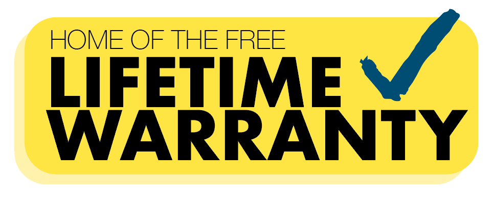 patterson free lifetime warranty banner