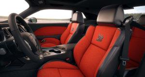 2019 Dodge Challenger hellcat interior red seats