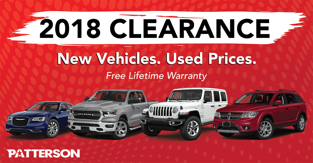 2018 Clearance. New Vehicles. Used Prices. Free Lifetime Warranty.