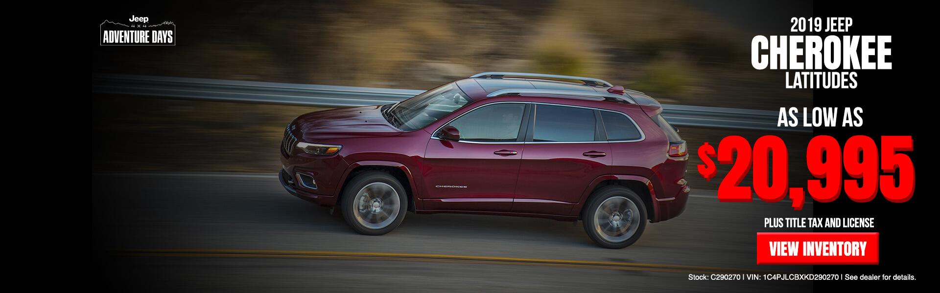 2019 Jeep Cherokee Latitudes
