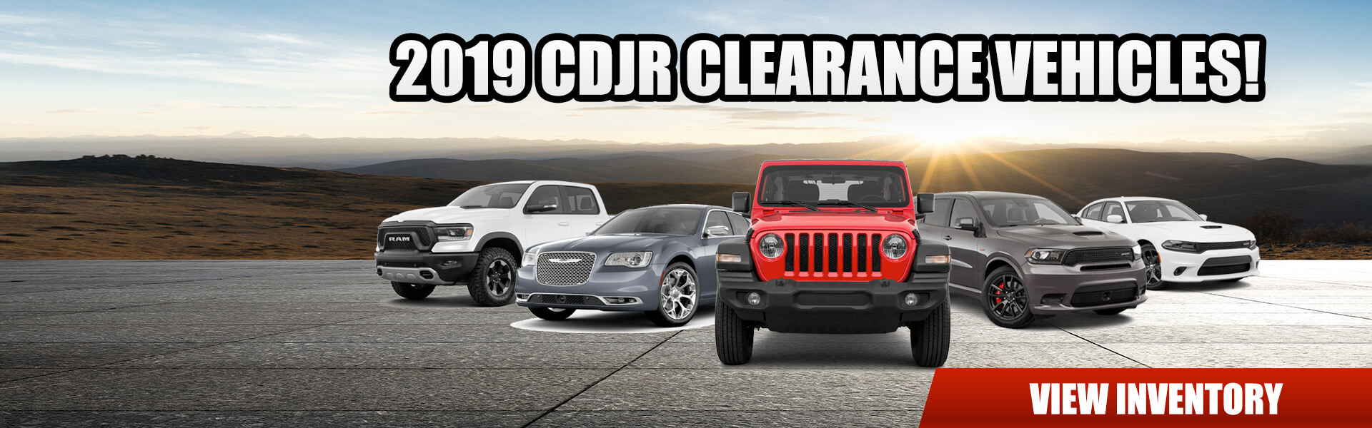 2019 Clearance Vehicles