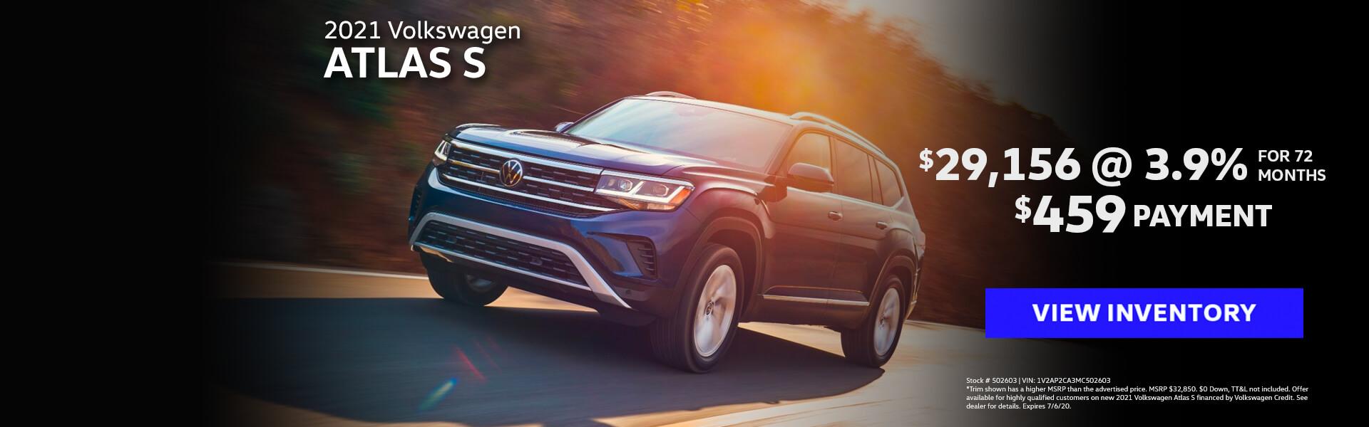 VW Atlas Offer