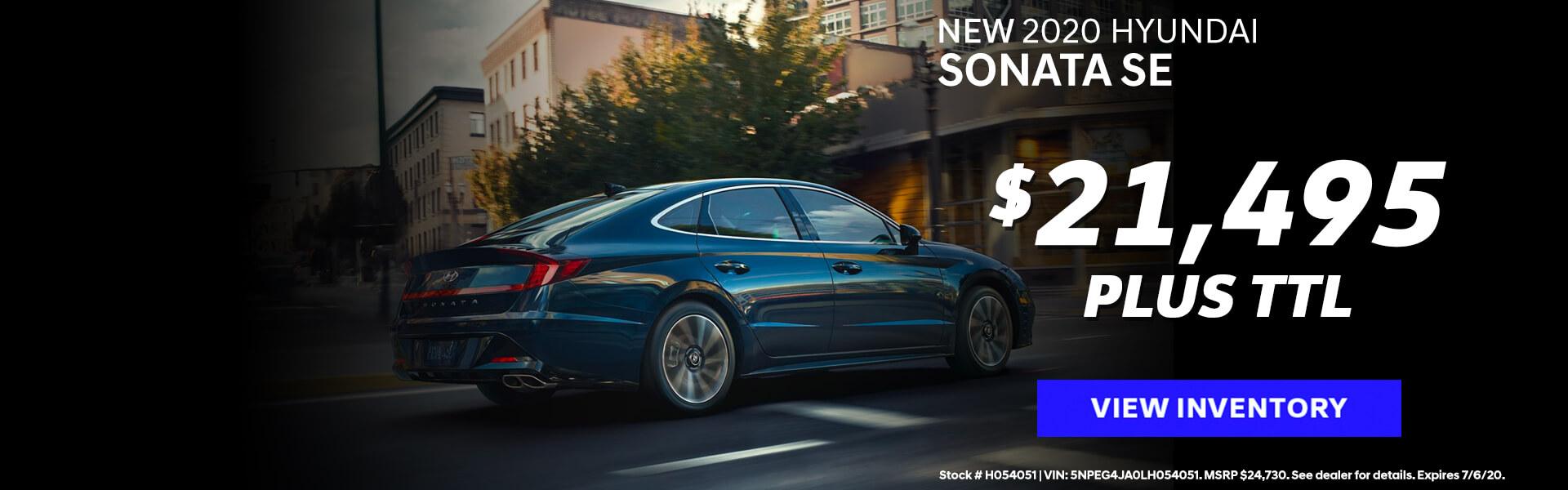 Hyundai - Sonata Offer (Employee Pricing)