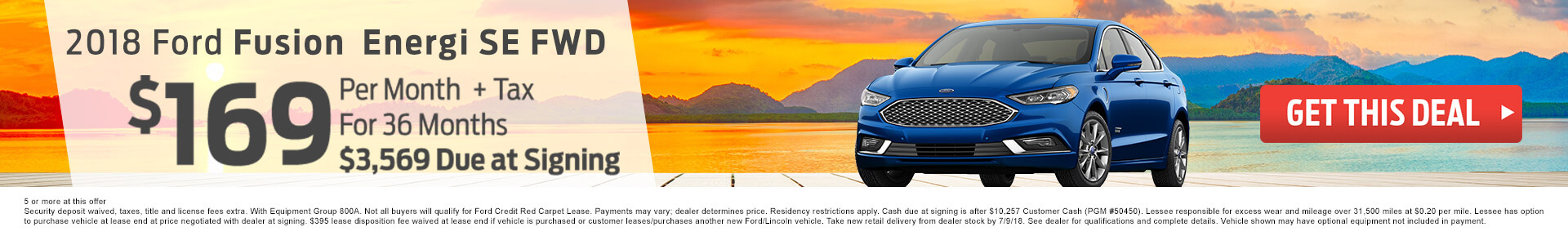 2018 Ford Fusion $169