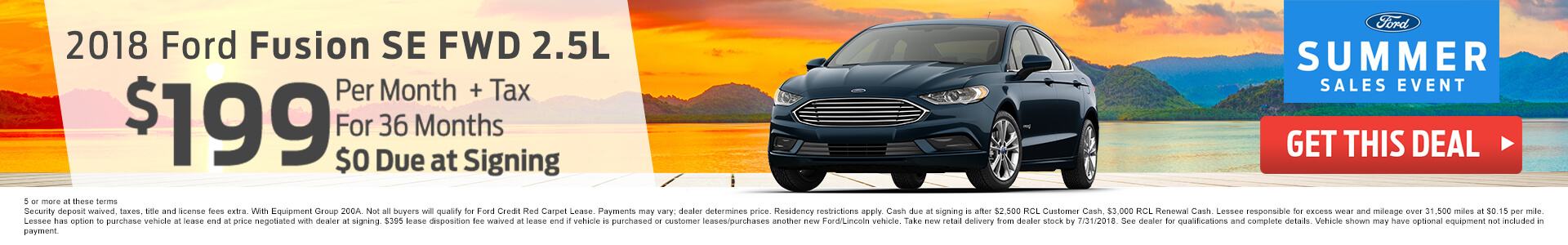 2018 Ford Fusion $199