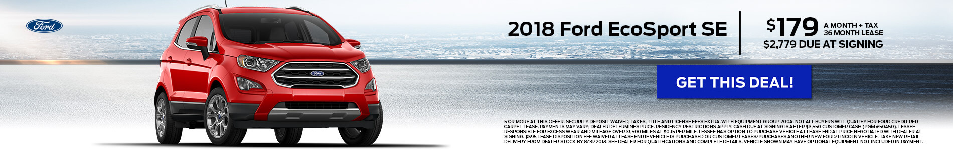 2018 Ford EcoSport $179