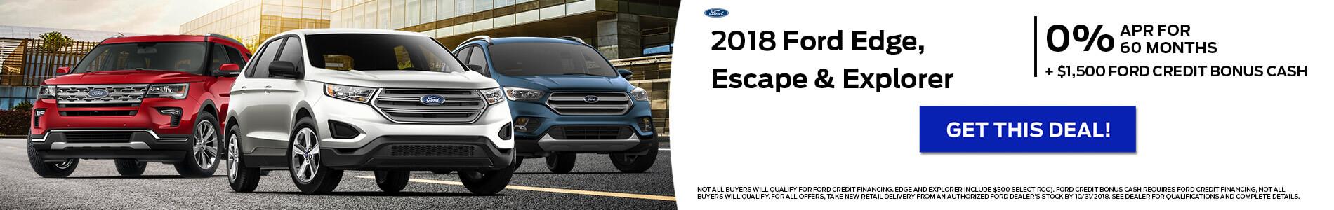 2018 Ford Escape Edge Explorer