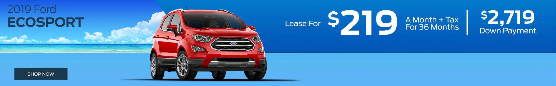 Eco Sport - Lease for $219