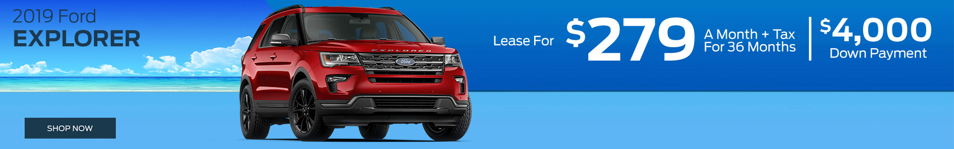 Ford Explorer - Lease for $279