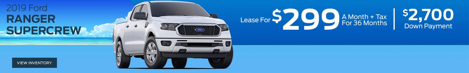 Ford Ranger - Lease for $299