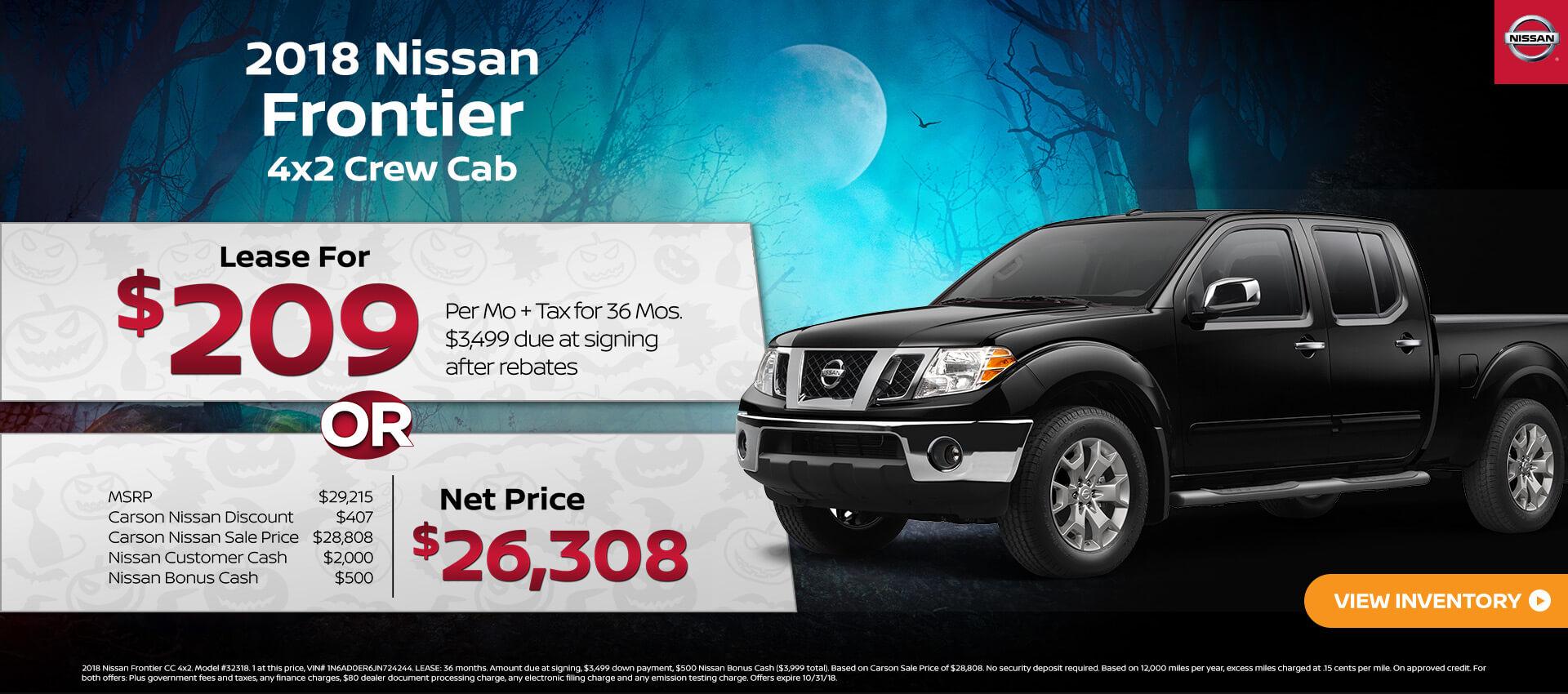 2018 Nissan Frontier 4x2 CC