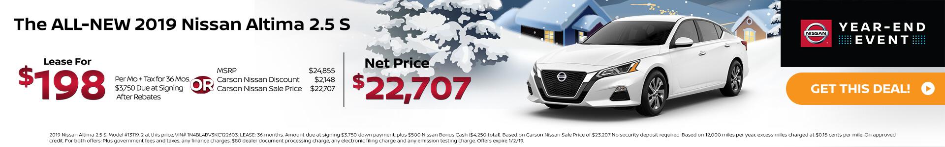 2019 Nissan Altima 2.5