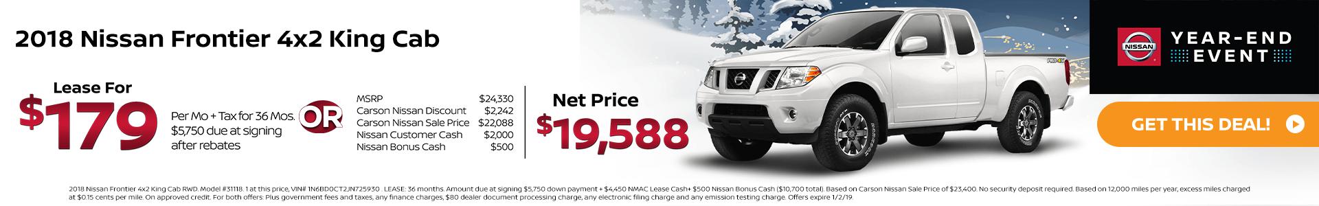 2018 Nissan Frontier 4x2