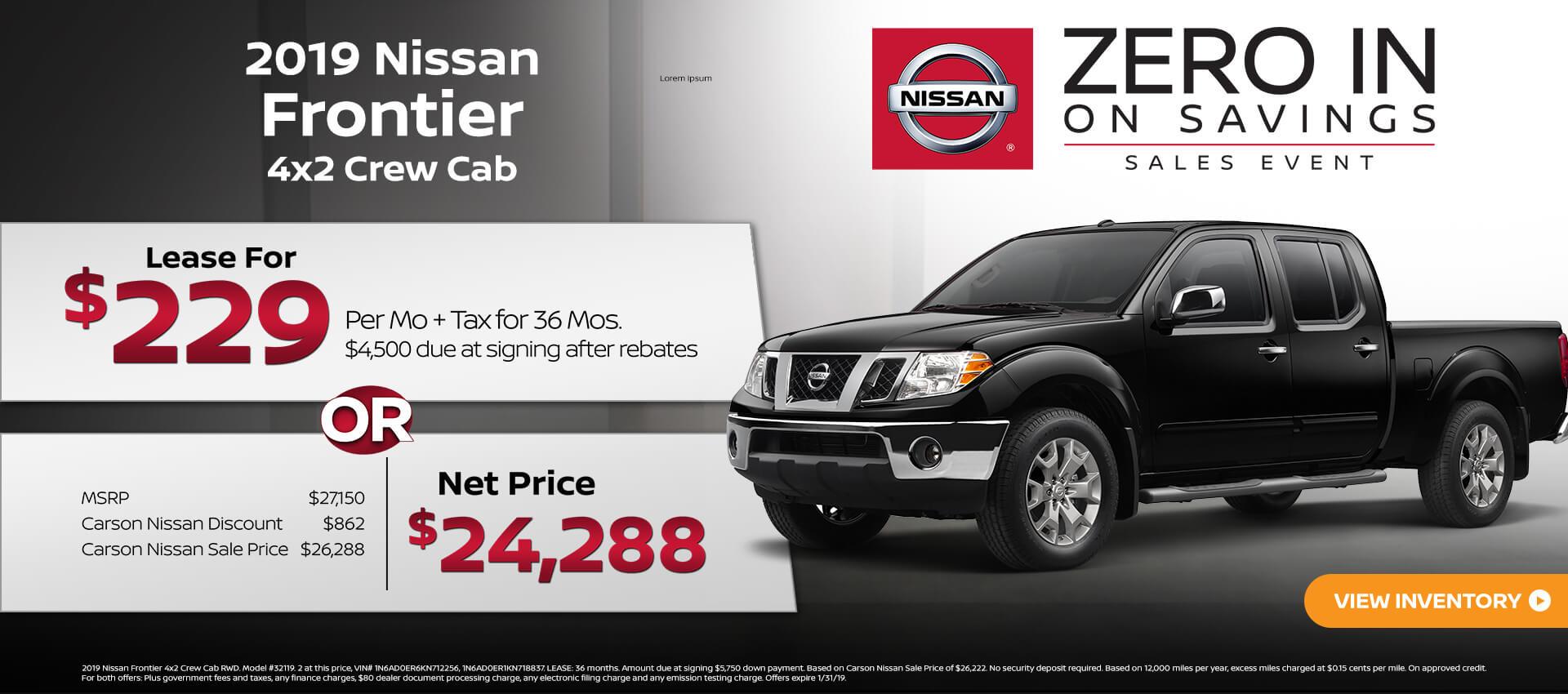 2019 Nissan Frontier 4x2 CC