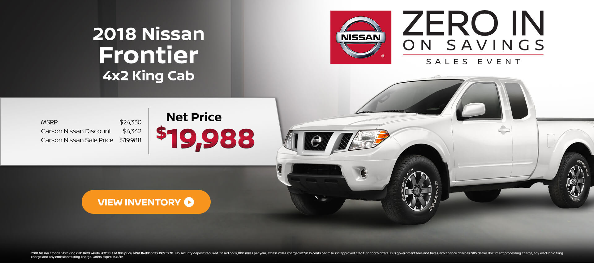 2018 Nissan Frontier 4x2 KC