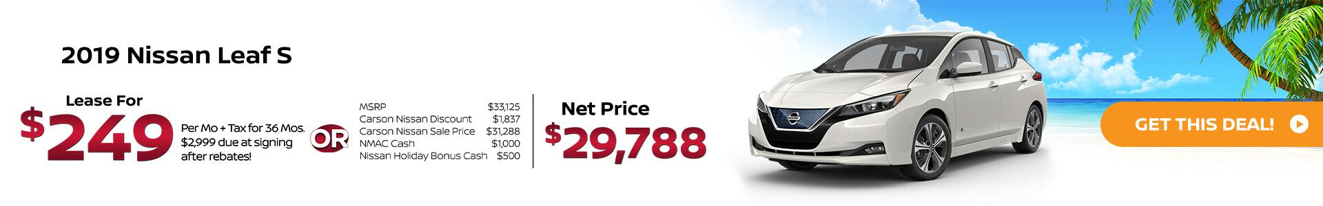 All New 2019 Nissan Leaf Plus Carson Nissan