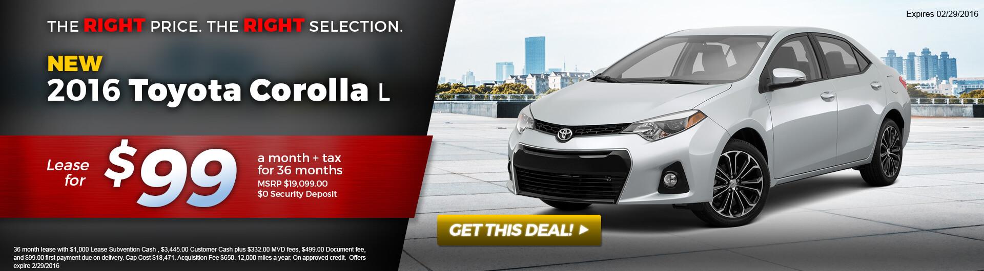 Corolla Offer