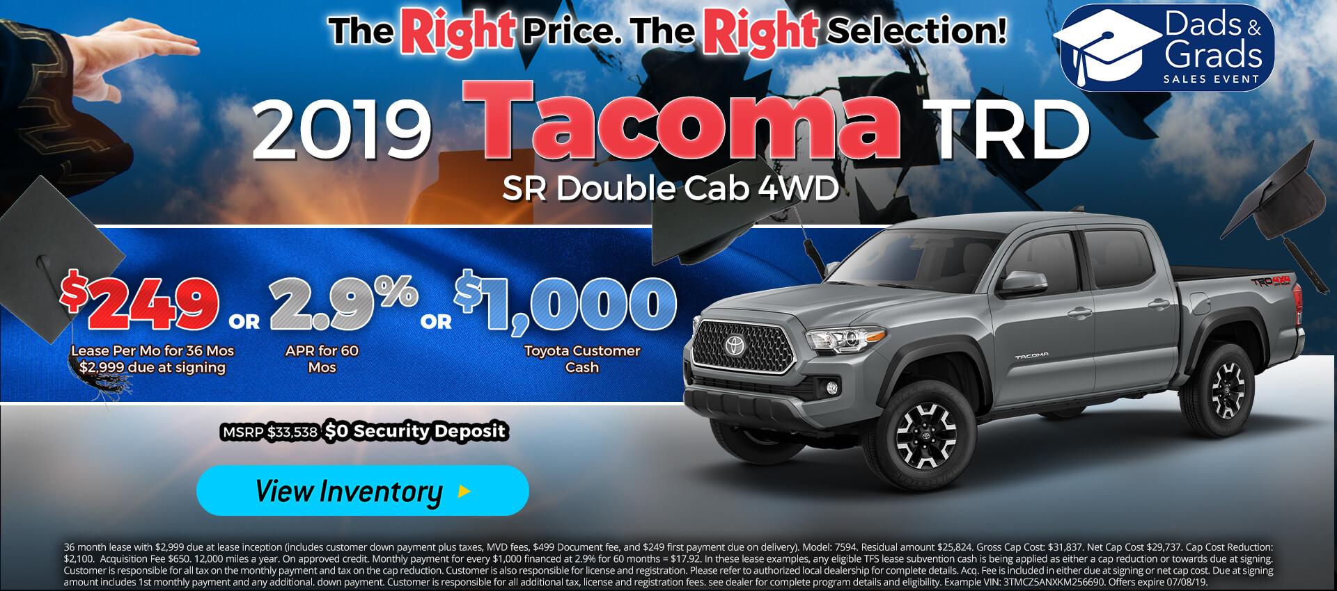 Tacoma - Lease for $249