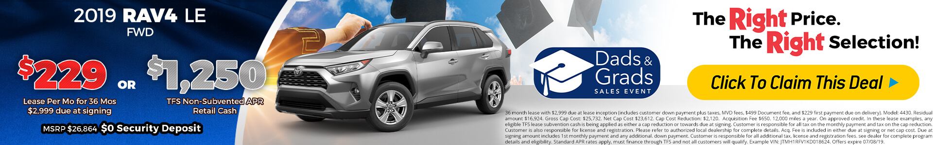 Rav4 - Lease for $229
