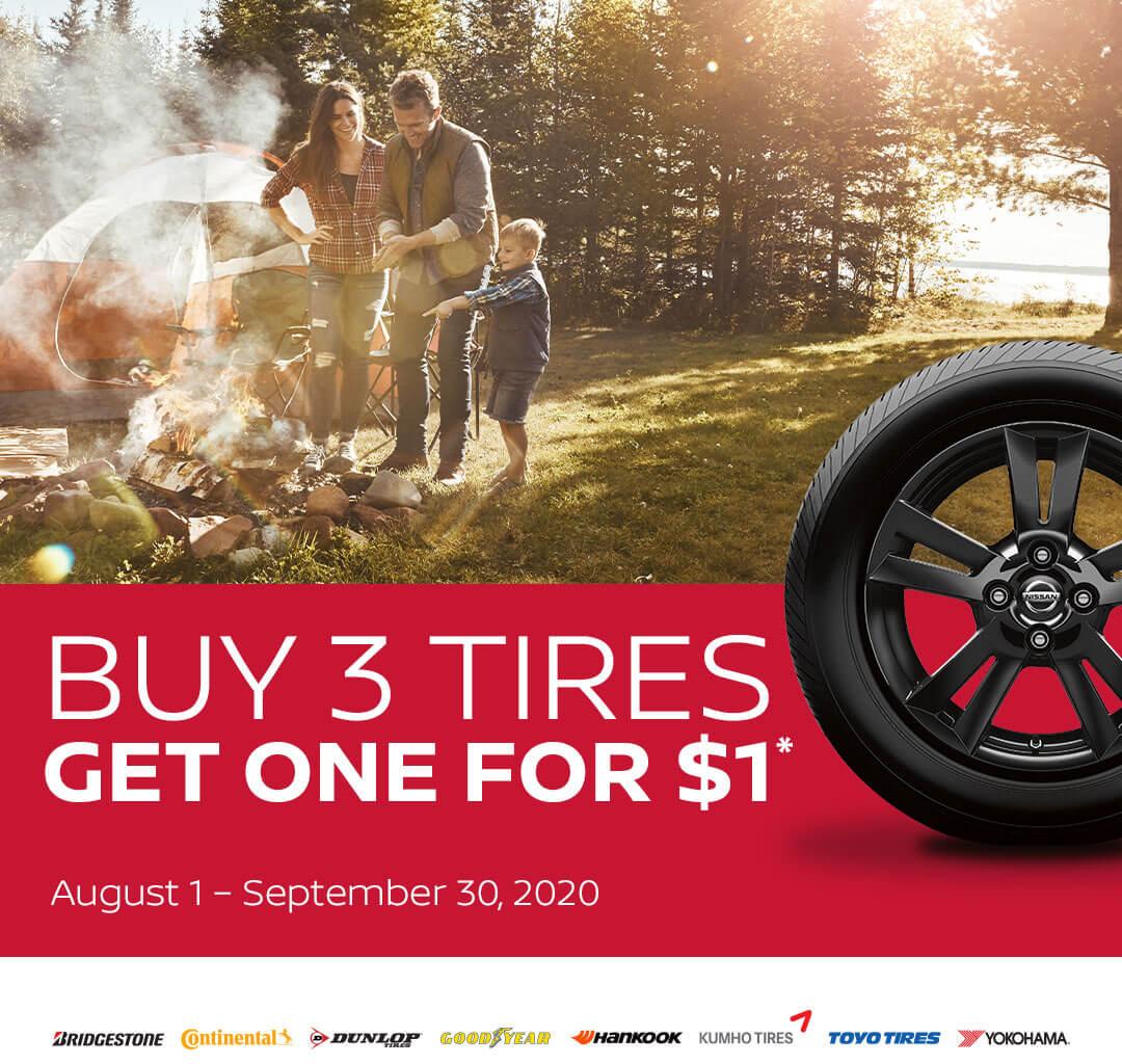 Comprar 3 Neumáticos Obtener Uno Por $1