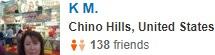 Chino, CA Yelp Review
