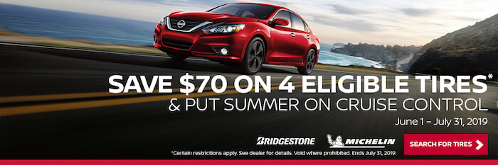 Save $70 on 4 Eligible Tires & Put Summer on Cruise Control