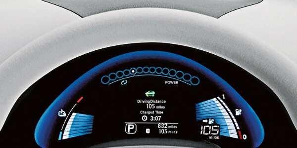 Driving Range of the 2017 Nissan Leaf Info Screen