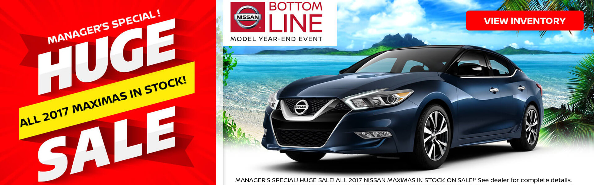 Manager Special on 2017 Nissan Maxima