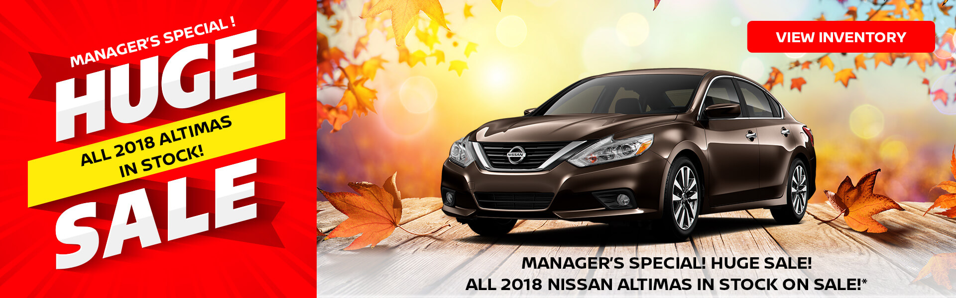 Manager Specials on Nissan Altima