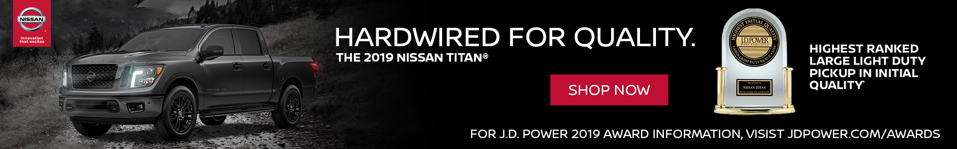 Nissan Titan JD Power Award
