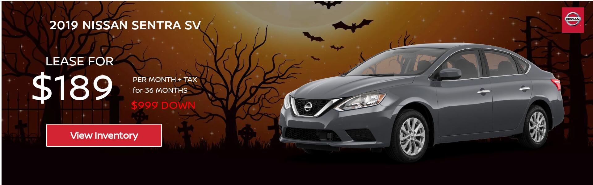 Nissan Sentra SV $135 Lease