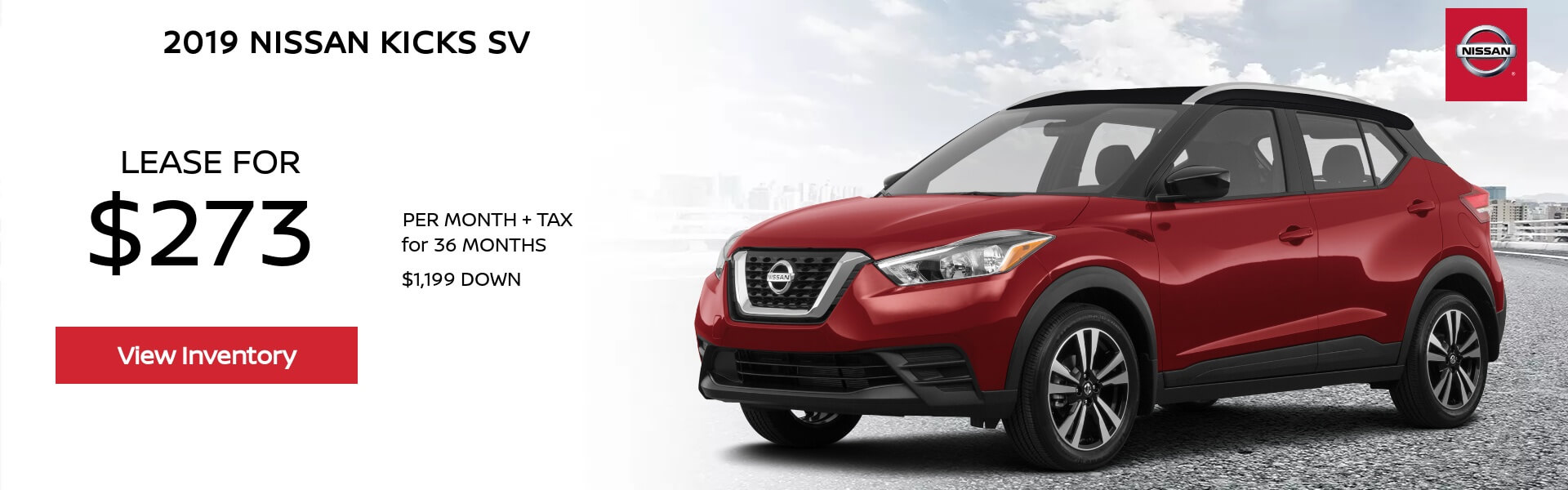 Nissan Kicks $273 Lease