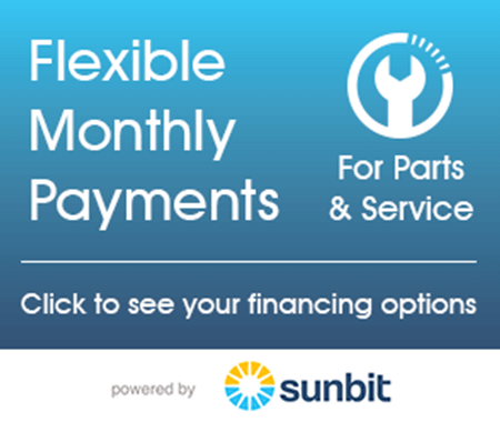 flexible monthly payments for parts & service