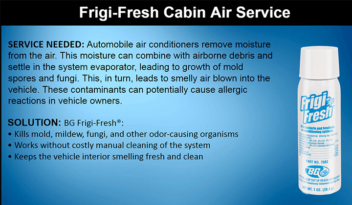 FRIGI-FRESH CABIN AIR SERVICE